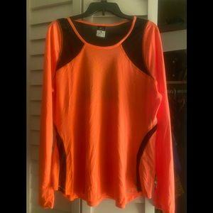 NWOT Nike Dri Fit Sporty Mesh Top XL - Orange